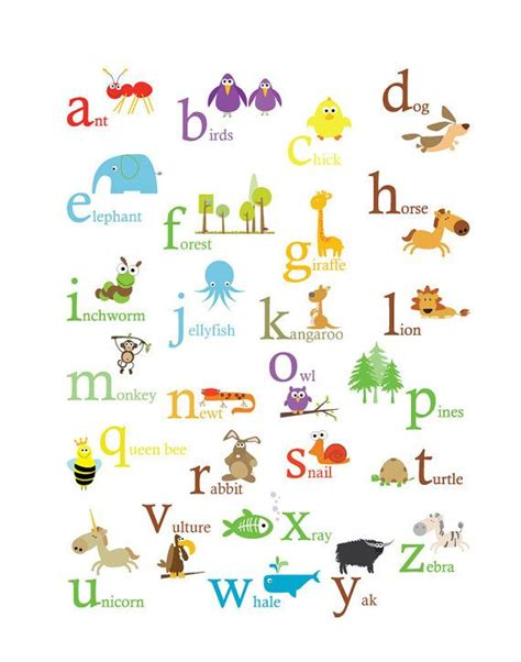 alphabet poster primary colors kid stuff pinterest