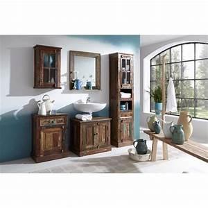 Armoire Salle De Bain Bois : armoire salle de bains riverboat 2 bois bicolore achat vente armoire de chambre pas cher ~ Melissatoandfro.com Idées de Décoration