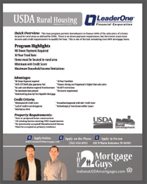 usda loan indiana usda mortgages indiana