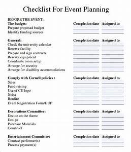 Event Planning Checklist Pdf