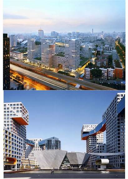 Linked Hybrid Beijing China Building Complex Moderate