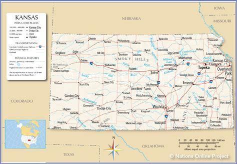 Reference Maps Of Kansas, Usa
