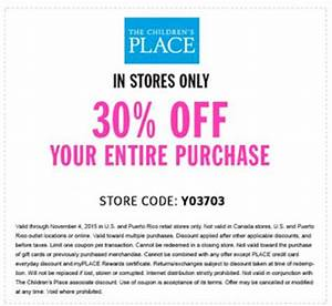 Place Des Tendances Code Promo : childrens place printable coupons july 2017 discount ~ Dailycaller-alerts.com Idées de Décoration