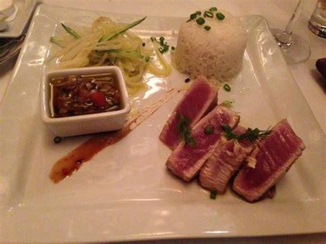 bora cuisine ahi tuna dinner plate picture of mai bora bora