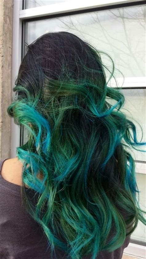 17 Best Images About Mermaid Ombre Blue Green Purple Hair