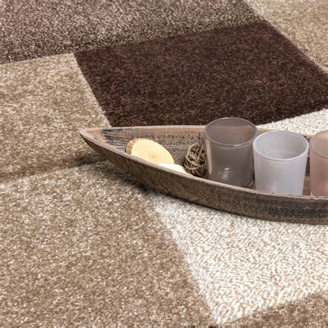 tapis design carrel 233 moderne fait marron beige cr 232 me