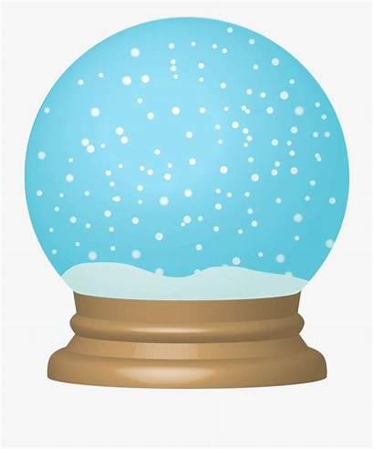 Snow Globe Clip Clipart December Empty Teal