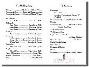 catholic wedding program templates with mass catholic wedding ceremony traditionscatholic wedding