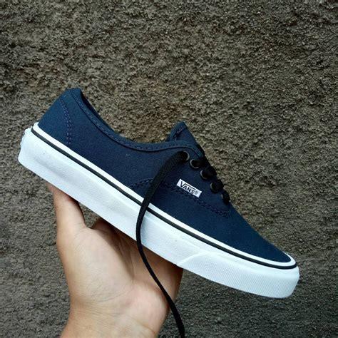 jual sepatu vans authentic navy blue dt di lapak provideshoes ariefbaraprovideshoes48137