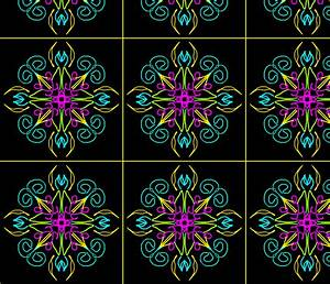 Neon Floral fabric paintglass Spoonflower
