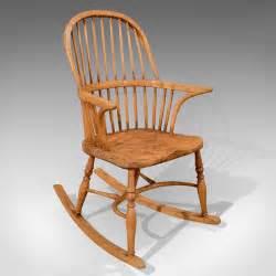 Antique, Windsor, Rocking, Chair, Ash, U0026, Elm, C1870