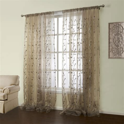 panel country embroidered brown floral pattern
