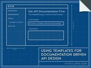 Using templates for documentation driven api design for Api doc template