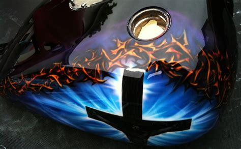 Christian Airbrushed Motorcycle Paint Scheme 3