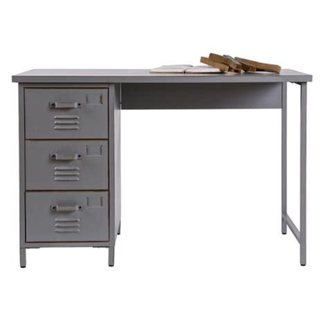 bureau pa cher bureau en métal gris 3 tiroirs vintage max bureau