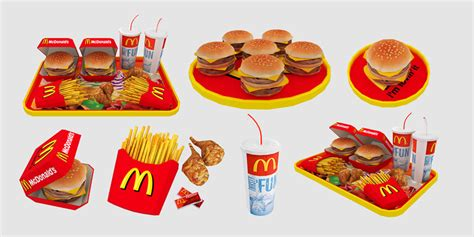 mod the sims mcdonald 39 s deco food set 8 meshes
