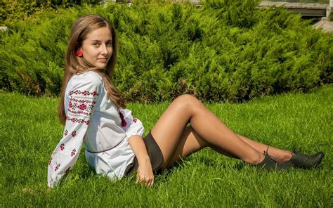 Amateur Russian Student In Tan Pantyhose High Definition