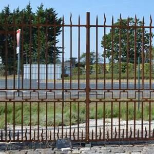 Portail Fer Forgé Plein : portail ancien portail fer forg ancien piliers en ~ Dode.kayakingforconservation.com Idées de Décoration