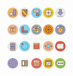 Design And Development Vector Icons 6 Stock Illustration ...