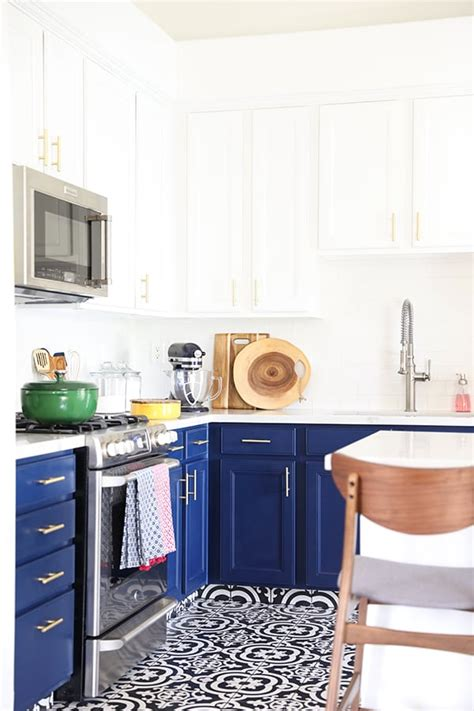 white and navy kitchen cabinets our navy blue and white kitchen remodel no 2 pencil