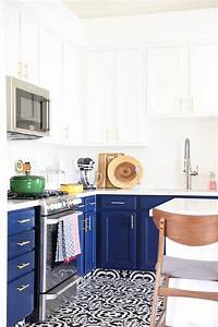 blue and white kitchen Our Navy Blue and White Kitchen Remodel - No. 2 Pencil