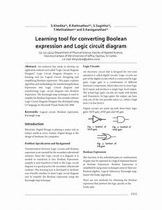 Pdf  Learning Tool For Converting Boolean Expression And