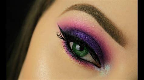 green eyes pop purple smokey eye youtube