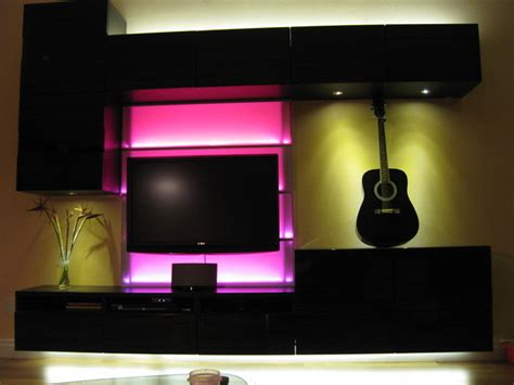 pink led light   wall unit