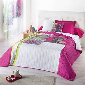 Couvre Lit Matelassé Ikea : couvre lit matelass douceur zen 220x240cm fuschia ~ Melissatoandfro.com Idées de Décoration