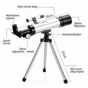 Teleskop, Astronomisches, Tragbares, Zoom, Hd, Refraktor