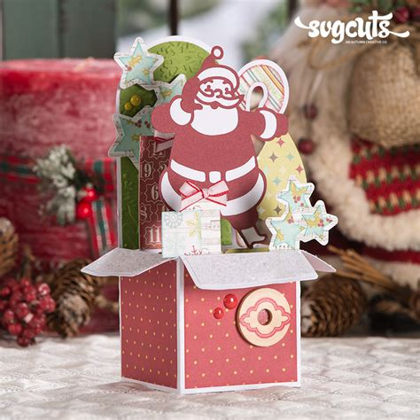 Cut files are free for personal use only. Christmas Box Cards SVG Kit | SVGCuts.com Blog
