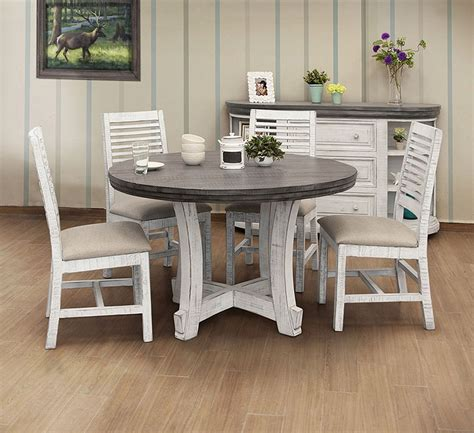 stone  dining room set  white gray  ifd
