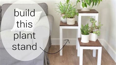 Diy Modern Wooden Plant Stand For Indoors With Blogger