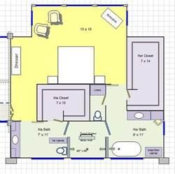 master bedroom bath floor plans his master bathroom floor plan it for the home furniture bathroom