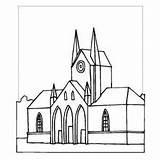 Cathedral Coloring Sheet St Places Basil Designlooter 300px 1kb Freecoloringsheets sketch template