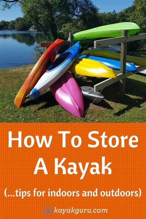 How To Store A Kayak (outside, Inside Ideas) On Hang Racks