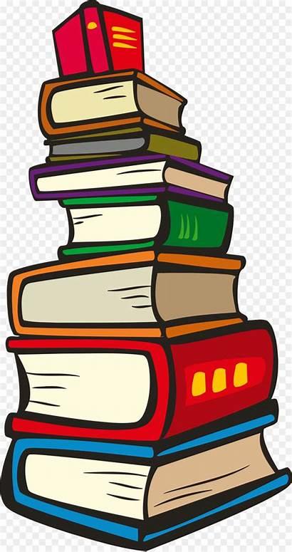 Clipart Books Reading Clip Transparent Buku Tumpukan