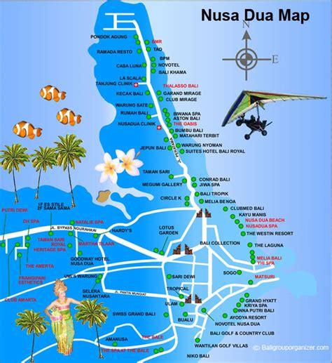 nusa dua tanjung benoa map bali luxury resort area