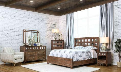 Frontera Rustic Oak Panel Bedroom Set From Furniture Of