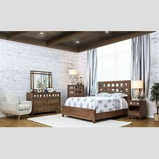 Frontera Rustic Oak Panel Bedroom Set From Furniture Of