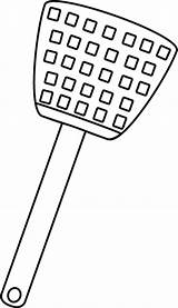 Fly Swatter Clip Outline Transparent Pluspng Mycutegraphics Graphics sketch template