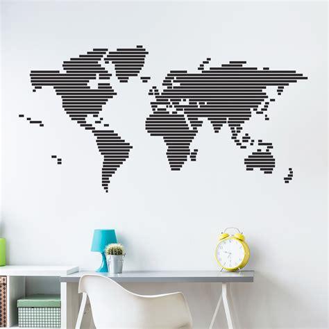 carte du monde stickers muraux pays  villes