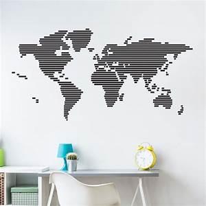 Carte Du Monde Metallique : carte du monde stickers muraux pays et villes ~ Teatrodelosmanantiales.com Idées de Décoration