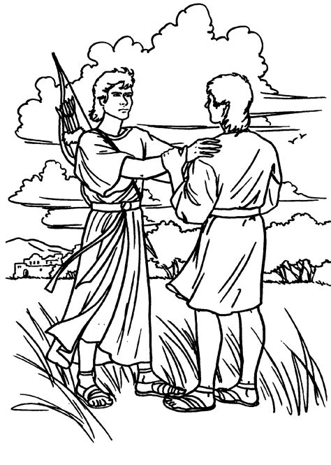 Free Coloring Pages Of King Saul Disobeys God
