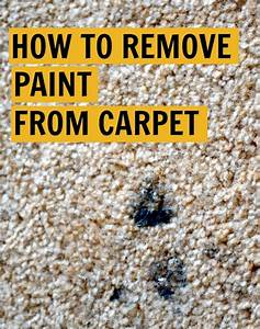 rachel schultz how to remove paint from carpet With how to clean dried paint off hardwood floors