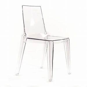 Chaise Transparente Pied Bois : chaise moderne en polycarbonate transparent ice 4 pieds tables chaises et tabourets ~ Teatrodelosmanantiales.com Idées de Décoration