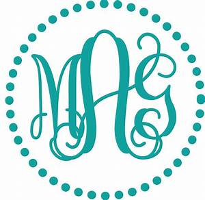free monogram fonts for vinyl wowcom image results With initials design