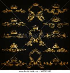 Royal Gold Crowns with Black Backgrounds