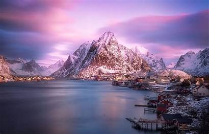 Norway Winter Mountains Mountain Fjord Fjords Iphone