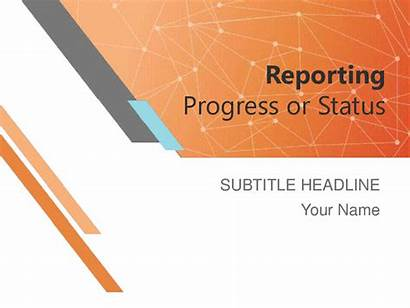 Report Status Project Presentation Progress Templates Reporting